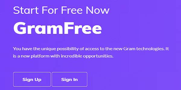 JOIN THE GRAMFREE CRYPTO PROJECT TODAY!
